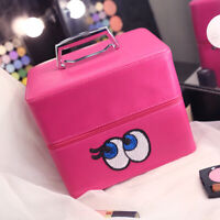 Multifunctional Nail Art Cosmetic Suitcase Bag Storage Case Box High capacity