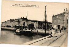 CPA  Ile de Ré- St-Martin-de-Ré -La Gare et le Quai d'embarquement ...(242205)