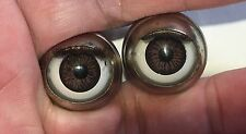 American Girl 1 pair soft lash brown decal eyes - Parts, custom *as is