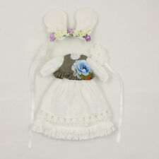 """The Rabbit Fairy White Dress  For Takara 12""""Blythe Doll Factory Outfit"""