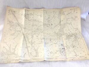 1932 Antique Old Map of Sussex Marle Green Heathfield Clappers Wood Cowden Hall
