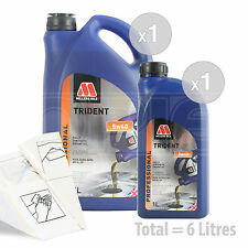 Car Engine Oil Service Kit / Pack 6 LITRES Millers TRIDENT 5W-40 synth 6L