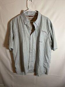 Simms Cor3 Cotton Poly Short Sleeve Fishing Shirt Size XL