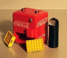 Danbury Mint Coca Cola Cooler Accessory Set Diecast 1/24 Scale G Diorama Items