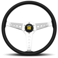 NEW Genuine Momo Heritage California black leather steering wheel. Classic Retro