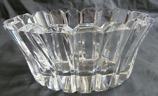 Vintage Orrefors Modern Cut Crystal Small Oval Bowl by Gunnar Cyren Sweden