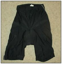 AZORE CYCLE SHORTS, MARKED AS SIZE LARGE. PADDED.