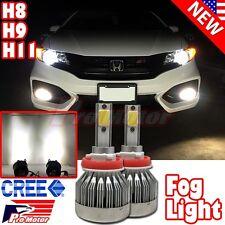 H11 H8 H9 CREE COB 60W 6000 LM 6500K LED Error Free Driving DRL Fog Light Bulbs