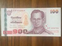 Thailand 100 Baht sign. 3 UNC kassenfrisch bankfrisch
