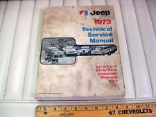 1973 JEEP Full Line CJ, DJ, Commando, Wagoneer Shop Service Manual