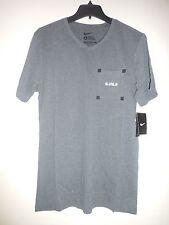Nike Men's Gray Black Short Sleeve Lebron James Basketball T-Shirt 465617-071 S