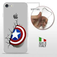 iPhone 7 TPU CASE COVER GEL PROTETTIVA TRASPARENTE DC MARVEL Captain America