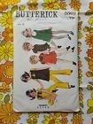 BUTTERICK 5502 sewing pattern CHECKED / COMPLETE 1960s vintage retro child