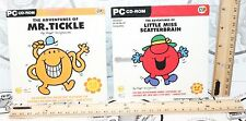 2 LOT THE ADVENTURES OF LITTLE MISS SCATTERBRAIN & MR TICKLE PC CD-ROM FUN GAMES