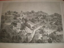 View of Murree Punjab British India (now Pakistan) 1869 old print