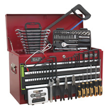More details for ap2201bbcombo sealey topchest 6 drawer red/grey & 99pc tool kit