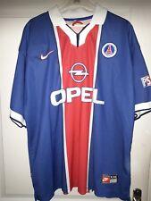 PARIS SG Ancien Maillot Football Saison 1997/1998 OPEL T XL PSG Vintage M Simone