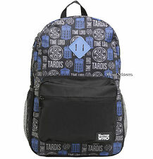 BBC Doctor Dr Who Time Lord Tardis Police Call Box School Backpack Book Bag NEW