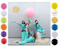 """HUGE GIANT BALLOONS UP TO 36"""" INCH 3 FEET 91cm  XL JUMBO BIG WEDDING UK OVAL"""