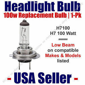 Headlight Bulb Low Beam 100 Watt Upgrade 1pk - Fits Listed Makes & Models H7 100