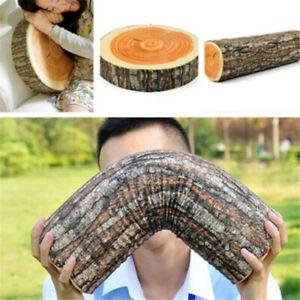 Wooden Throw Pillows Wood Log Pillow Home Creative Chair Soft Tree Stump Cushion