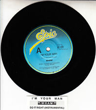 "WHAM!  I'm Your Man 7"" 45 rpm vinyl record + juke box title strip"