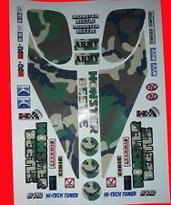 MONSTER BEETLE ARMY TAMIYA HPI LOSI RC 1/10th PLUS EXTRA DECALS STICKERS