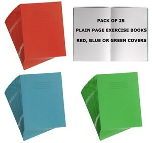 25 x SCHOOL EXERCISE BOOKS A5 CLASS NOTEBOOK SILVINE RHINO PLAIN BLANK 48 PAGE