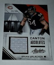 2016 Absolute CHICAGO BEARS Brian Urlacher GAME WORN Jersey card #24/50