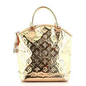 Louis Vuitton Lockit Handbag Monogram Miroir PVC