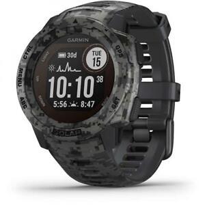 Garmin INSTINCT SOLAR Smartwatch Watch Silicone Camo Gray GPS 010-02293-05