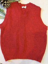 LL Bean 100% Wool Vest XL USA Men's Red