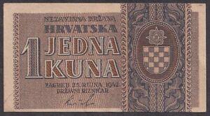 +Croatia, NDH, 1942, 1 Kuna