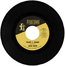 "ROCKIE BROWN  ""WITHOUT A WARNING c/w INSTRUMENTAL""  NORTHERN SOUL  LISTEN!"