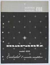 Marantz Model 4100 original quadradial 4 Console amplifier Service-manual o125