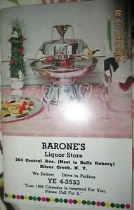 Vintage Liquor store catalog Silver Creek NY Barone's Barware Gifts 50 pgs 1963
