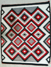 Vintage NAVAJO INDIAN  RUG Eyedazzler design Finely Woven circa 1940's Blanket
