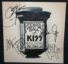 KISS Band Signed Autographed Program 'Rock & Roll Ball with Kiss' (F/VF) 1976