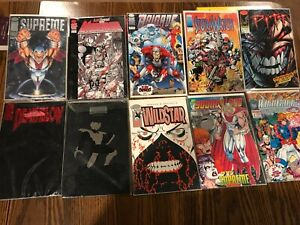 Lot of 10 Image Comics, Many No.1.Supreme, Pitt, Deathblow, ShadowHawk, WildStar