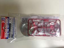 Tamiya 54553 Rouge Plaqué 2 pièces 6 bâtons Roues 26mm Largeur,compensé +6 NIP