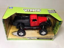 "1946 Dodge Power Wagon, Pickup Truck 7.25"" Diecast 1:32 Off Road New Ray Toy Red"