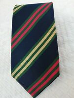 Zanolini Men's Tie Blue Regimental 100% Silk Made IN Italy