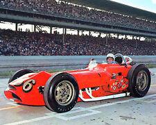 JIM HURTUBISE 1963 INDY 500 AUTO RACING 8X10 PHOTO