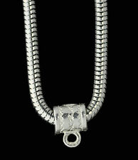 925 Sterling Silver European Dangle Charm Adapter Bead Bail loop Charm Holder