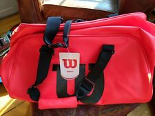 Wilson Premium Infrared Duffle Tennis Bag-Red