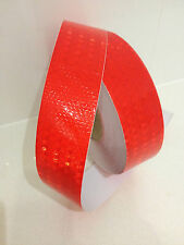 Hi-Vis Red Adhesive Vehicle Caution Safety Reflective Tape 50mm x 5m Roll