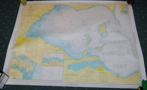 1960s Lake Erie Educational Map For Training Purposes Only
