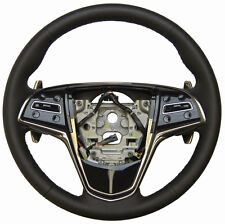 2013 Cadillac ATS Steering Wheel Black Leather W/Paddle Shift 23114419 23360218