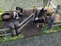 BESPOKE! 'GATED CATTLE PEN' WOODEN, FARM BUILDING FOR 'SCHLEICH' FARM ANIMALS