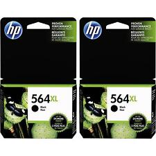 2-PACK HP GENUINE 564XL Black Ink (NO RETAIL BOX) PHOTOSMART 5510 5515 5520 5525